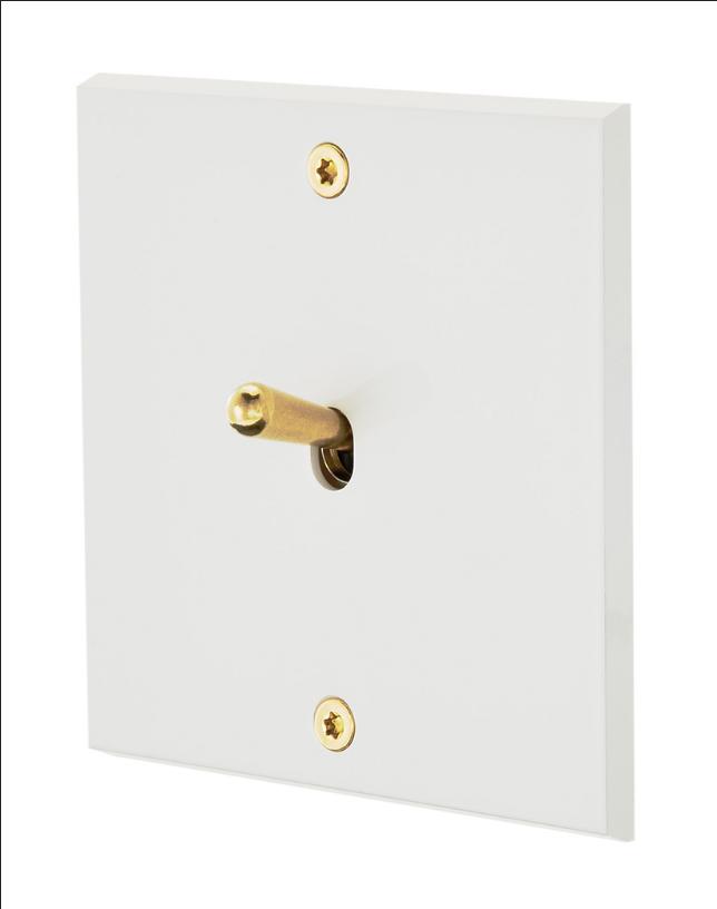 Белая эмаль 1-тумблерный выключатель золото