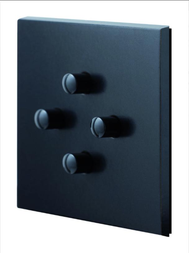 Черный матовый 4-кнопочный