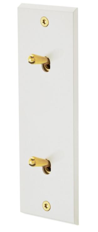 Белая эмаль 2-тумблерный золотой